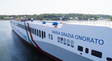 Tirrenia, il varo dell'ecologica Maria Grazia Onorato