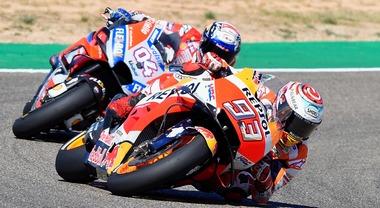 Aragon, Marquez piega la Ducati di Dovizioso, il titolo è ad un passo