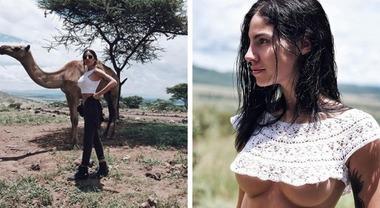 Giulia De Lellis, il safari in Africa è hot: la foto seminuda fa il pieno di like