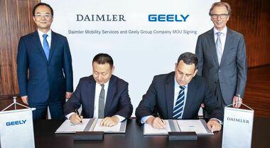 Daimler e Geely insieme per sviluppare nuovi sistemi ibridi. Obiettivo migliorare la competitività globale