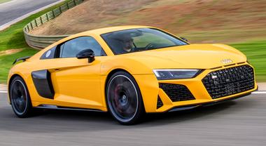 Nuova Audi R8, dalla pista alla strada. Motori ancora più potenti: V10 aspirato da 570 e 620 cv