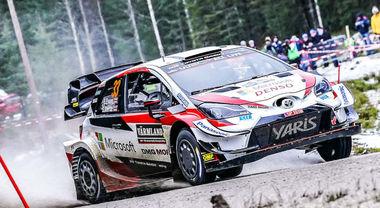 Rally di Svezia, la Toyota Yaris di Evans a un passo dal trionfo. Tanak è secondo