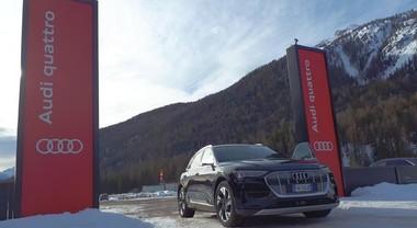 """Audi elettrizza Cortina per il """"Fashion Weekend"""". Sarà laboratorio di mobilità sostenibile per i Mondiali di sci"""