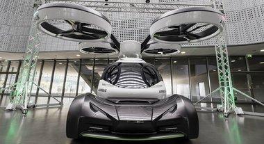 Pop.Up, l'auto volante a metà tra drone e vettura di Italdesign e Airbus esposta al Museo dell'Auto