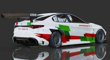 Alfa Giulia elettrica per Campionato ETCR. Ferraris firma il primo Biscione da gara a batterie