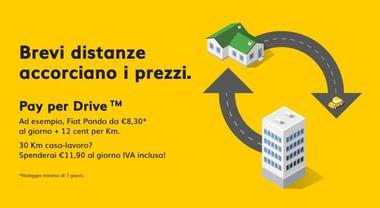 Hertz lancia pay per Drive, per chi percorre distanze brevi. Include guidatore aggiuntivo e riconsegna in agenzia diversa