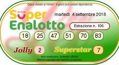 Superenalotto fortunato, in sei centrano un 5: i numeri vincenti