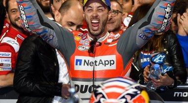 MotoGP, il trionfo della Ducati di Dovizioso in Qatar