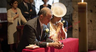 Il matrimonio del principe attore: Urbano Barberini sposa Viviana Broglio. «Presto saremo in tre»