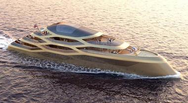 Benetti premiato allo Yacht Show di Monaco per il concept di un mega yacht di 77 metri