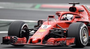 Ferrari di Vettel vola nei test al Montmelò. Precede Bottas e Vandoorne, 10° Leclerc su Alfa Romeo Sauber