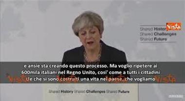"""May a italiani ed europei: """"Voglio che restiate"""""""
