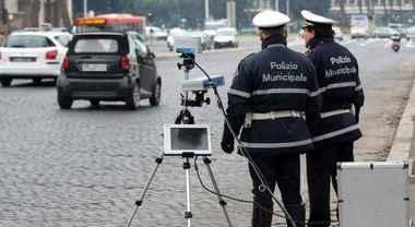 Eccesso di velocità, a Roma oltre 200 multe nel week-end dalla Polizia Municipale
