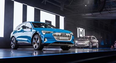 Audi e-tron, la spettacolare world premiere a San Francisco (2)