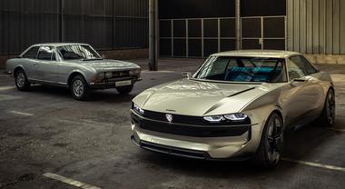 """Peugeot e-Legend, il Leone """"ritorna al futuro"""". Concept elettrica e autonoma con stile 504 Coupé 1969"""
