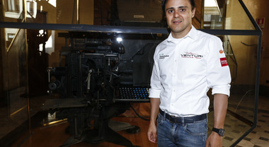 Felipe Massa in visita a Il Messaggero