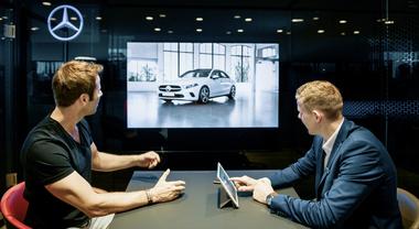 Mercedes, visite record per lo showroom online. Italia mercato pilota