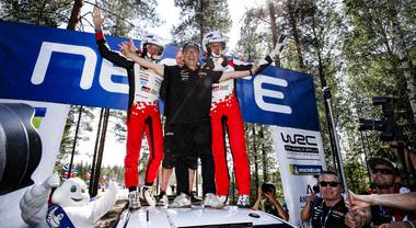 WRC, il trionfo della Toyota Yaris di Tanak in Finlandia