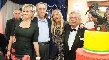"""A Maranello una """"festa napoletana"""" per Mauro Forghieri. Tra gli ospiti Scheckter, Tambay, Merzario, Joanna Villeneuve"""