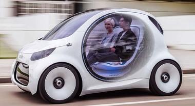 Smart Vision EQ, la Fortwo a guida autonoma per il car sharing del futuro
