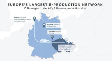 Volkswagen: piano per riconvertire le fabbriche per auto elettriche. Emden e Hannover le prime, sinergie con Skoda e Seat