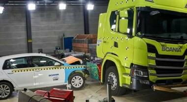 Scania, crash test sulla batteria di un camion elettrico: prova superata. Bene verifiche sulla resistenza all'urto