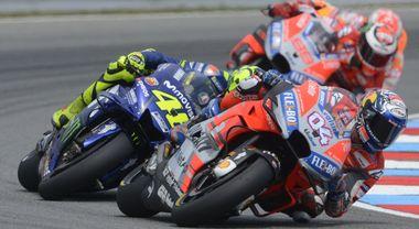 Ducati trionfa a Brno, Dovizioso precede Lorenzo e la Honda di Marquez. 4° Valentino