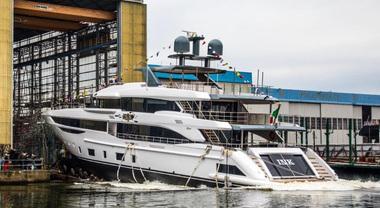 Varato il Diamond 145 di Benetti, ammiraglia della linea Class. Primo yacht in vetroresina lungo 44 metri