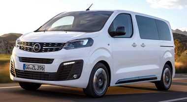 Opel Vivaro Life, pratico e versatile con tre lunghezze fino a nove posti. Motori Euro 6d con sistema SCR