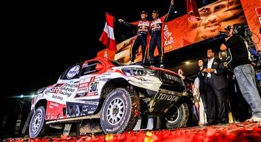 Prima vittoria Toyota alla Dakar con Al-Attiyah. Price (KTM) conquista il 2° trofeo tra le moto