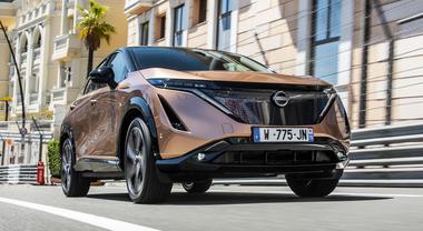 Nissan Ariya, il debutto su strada a Montecarlo