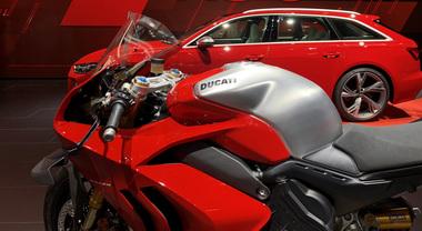 Ducati, a Francoforte nello stand Audi riflettori puntati sulla Panigale V4 R: la più potente di sempre