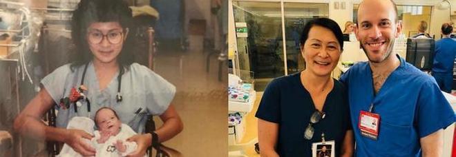 Infermiera salva il bimbo prematuro, 28 anni dopo sono colleghi nello stesso ospedale