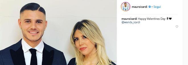 Inter, Icardi pubblica foto con Wanda per San Valentino Foto