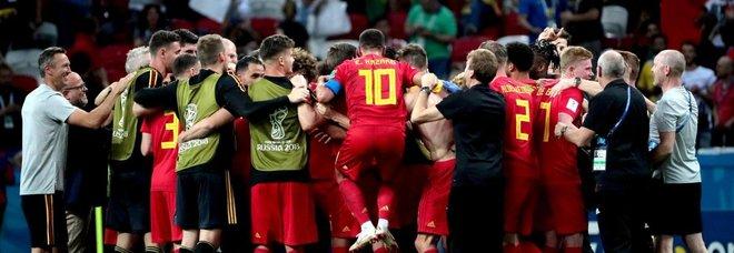 Impresa Belgio: 2-1 al Brasile Neymar a casa, i rossi in semifinale