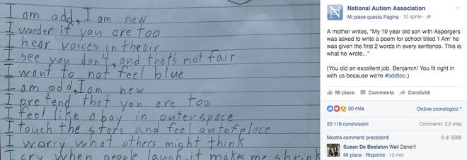 """""""Mi sento nello spazio"""": il bambino che racconta com'è l'autismo"""
