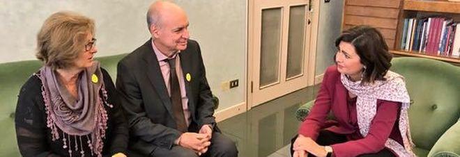 La Presidente della Camera Laura Boldrini con i genitori di Giulio Regeni
