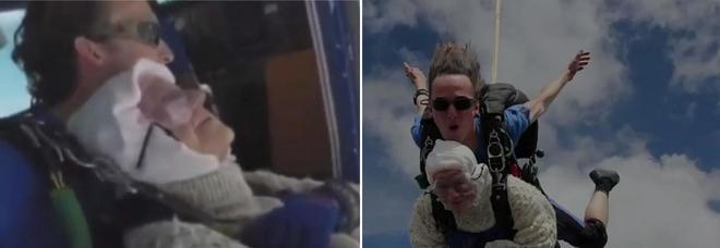 Nonna Irene si lancia dal paracadute a 102 anni per una buona causa