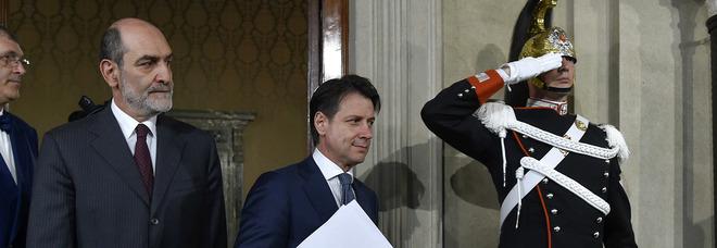 Conte al Quirinale insieme al presidente Mattarella