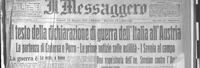 24 maggio 1915 L'Italia presenta la dichiarazione di guerra all'Austria-Ungheria