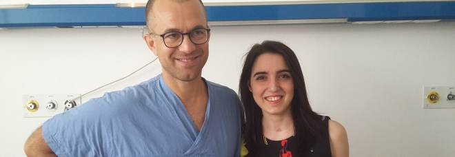 Roberta Migotto e il dottor Luigi Zuliani