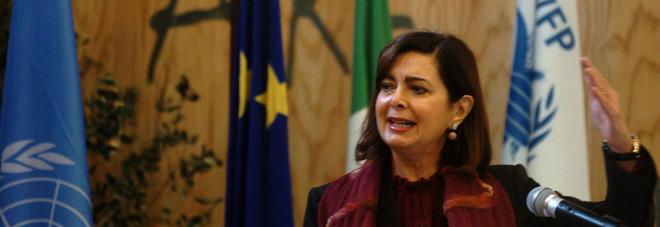 Il presidente della Camera Boldrini nella base Onu: «Qui si salvano vite umane»