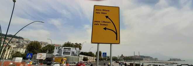 «Napoli, piazza Sannazaro in un cartello diventa San Nazzaro»
