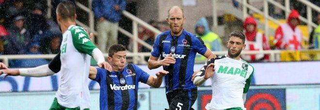 Serie A, i risultati del pomeriggio: Atalanta-Sassuolo 2-1, Cagliari-Crotone 1-0, Udinese-Genoa 1-0, Verona-Fiorentina 0-5