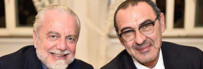 Napoli, De Laurentiis saluta Sarri: «Grazie per la collaborazione»