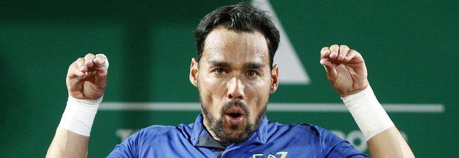 Montecarlo, Fognini in semifinale: battuto Coric in tre set. Ora c'è Nadal