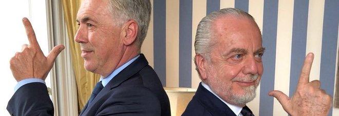 Napoli, De Laurentiis annuncia Ancelotti: «Benvenuto Carlo» «Sono veramente felice e onorato»