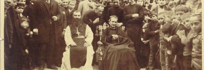 Don Bosco ritratto a Barcellona, in Spagna, nel 1886