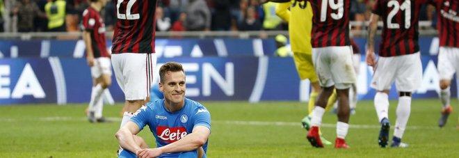 Il Napoli va in bianco col Milan: adesso lo scudetto è più lontano