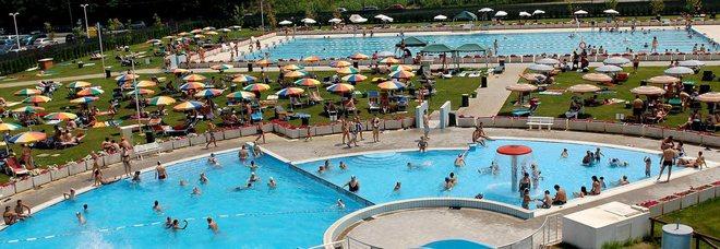 Il polo natatorio di Rovigo, l'area esterna